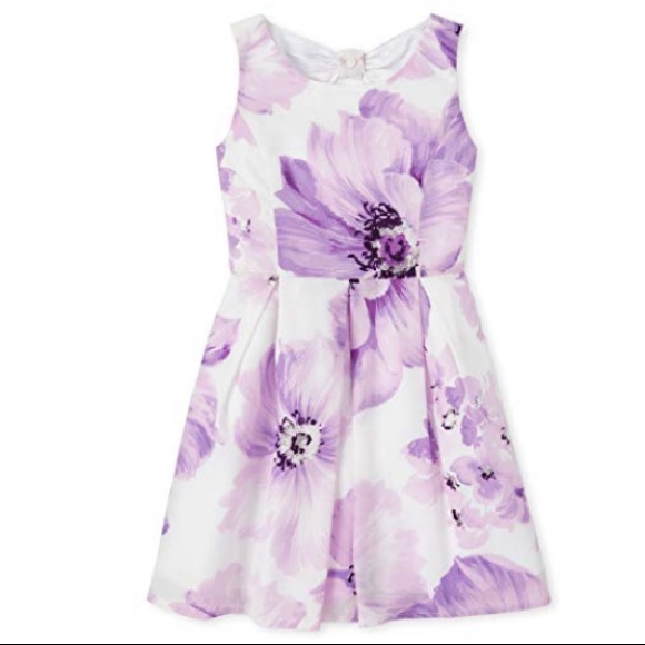 8- Floral Pleated Dress Lilac Haze